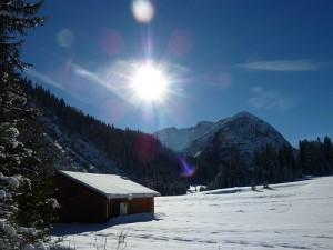 Wintersonne am Arlberg