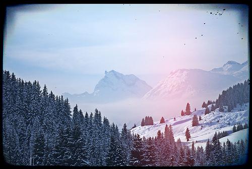 Frühling mit Neu- Schnee in Lech am Arlberg