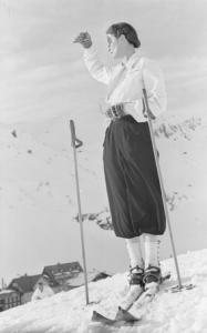 Skifahrerin aus den 1970ern am Arlberg
